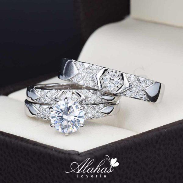 Trio de boda Plata 925 abpt-023