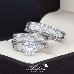 Trio de boda Plata 925 abpt-024