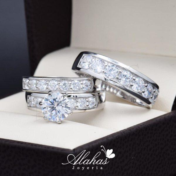 Trio de boda Plata 925 abpt-025