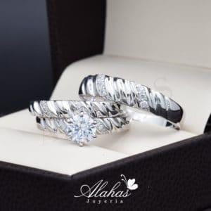 Trio de boda Plata 925 abpt-026