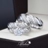 Trio de boda oro 14k con zirconias troz-052