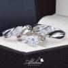 Trio de boda oro 14k con zirconias troz-097