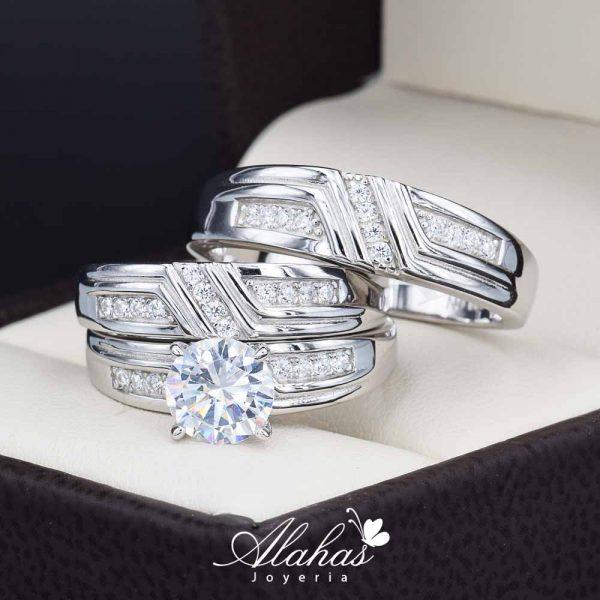 Trio de boda Plata 925 abpt-022