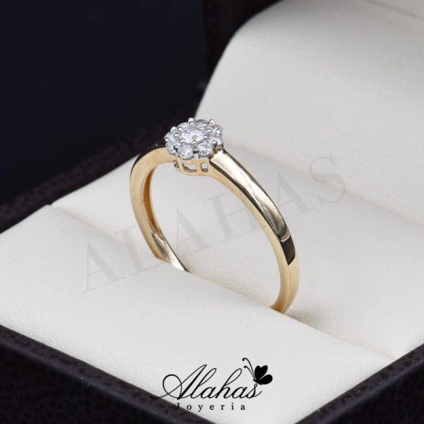 Anillo de compromiso Oro 14k diamantes sdiam-002