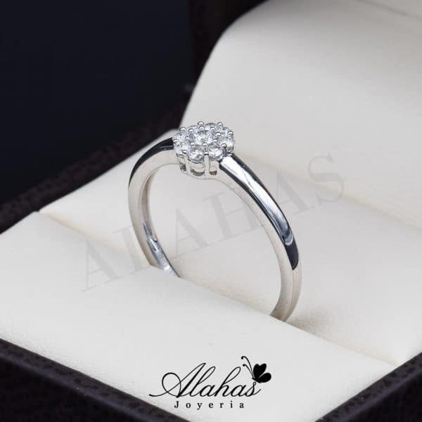 Anillo de compromiso oro 14k diamantes sdiam-003