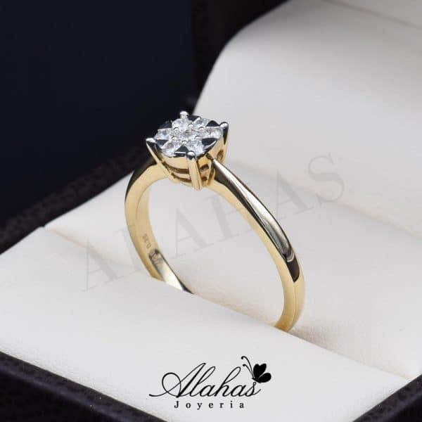 Anillo de compromiso Oro 14k diamantes sdiam-004