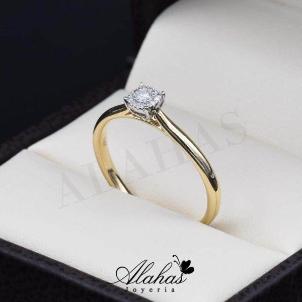 Anillo de compromiso Oro 14k diamantes sdiam-007