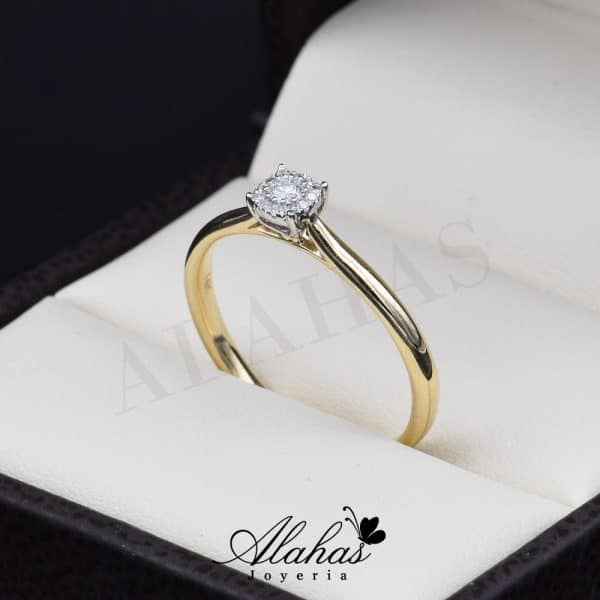 Anillo de compromiso Oro 14k diamantes sdiam-007