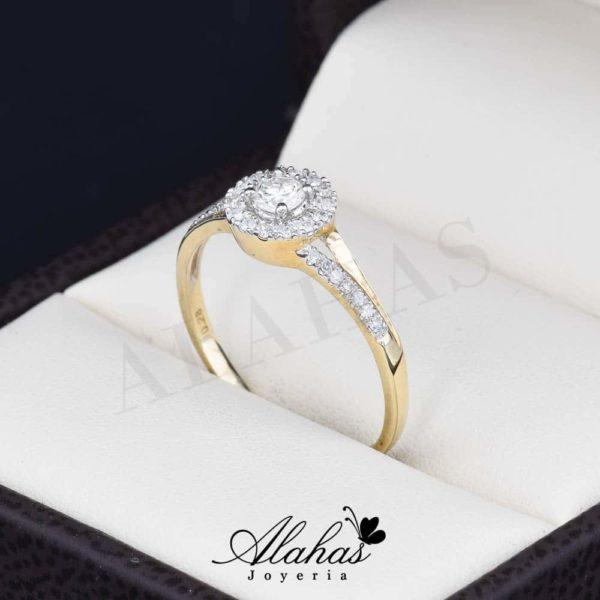 Anillo de compromiso oro 14k diamantes sdiam-008