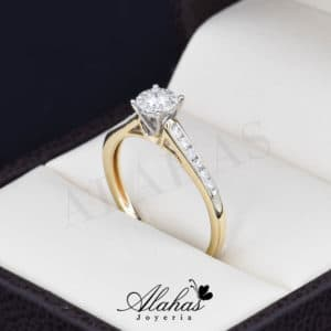 Anillo de compromiso Oro 14k diamantes sdiam-012