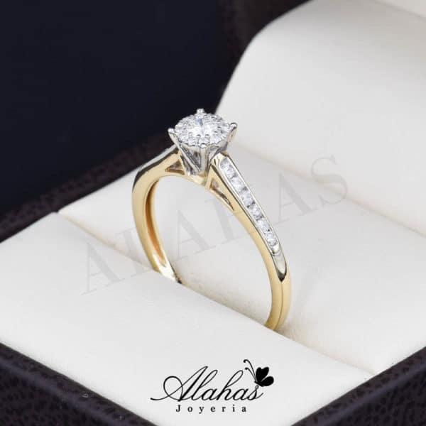 Anillo de compromiso Oro 14k diamantes sdiam-012