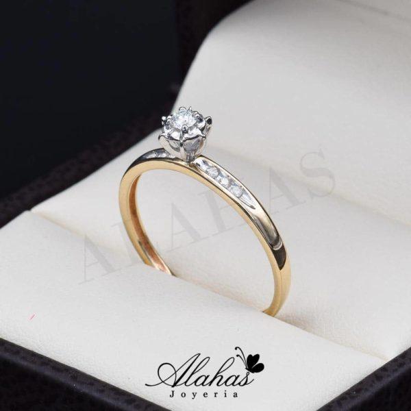 Anillo de compromiso Oro 14k diamantes sdiam-013