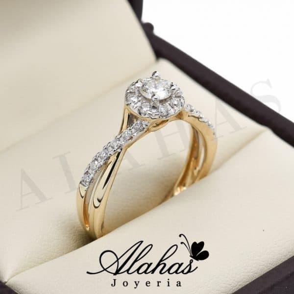 Anillo de compromiso Oro 14k diamantes sdiam-014
