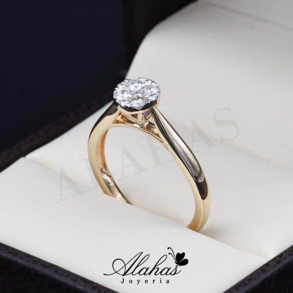 Anillo de compromiso Oro 14k diamantes sdiam-015
