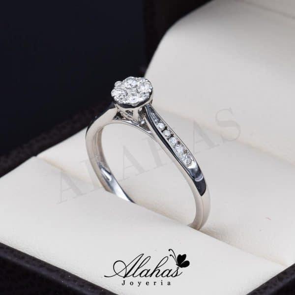 Anillo de compromiso Oro 14k diamantes sdiam-017