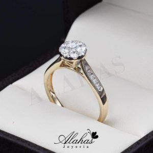 Anillo de compromiso Oro 14k diamantes sdiam-021