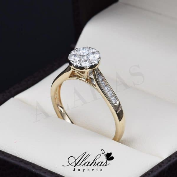 Anillo de compromiso Oro 14k diamantes sdiam-021