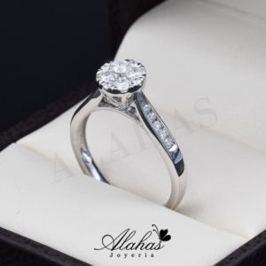Anillo de compromiso Oro 14k diamantes sdiam-022
