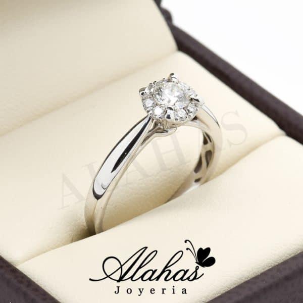 Anillo de compromiso Oro 14k diamantes sdiam-030