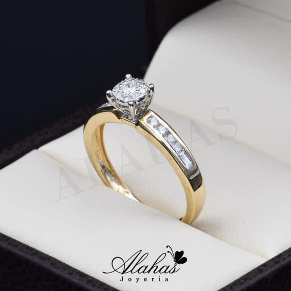 Anillo de compromiso Oro 14k diamantes sdiam-033