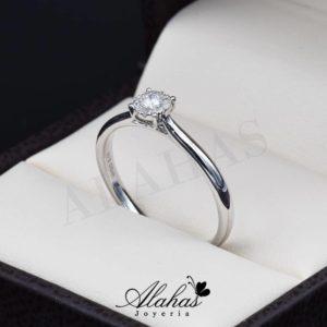 Anillo de compromiso Oro 14k diamantes sdiam-034
