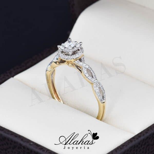Anillo de compromiso Oro 14k diamantes sdiam-035