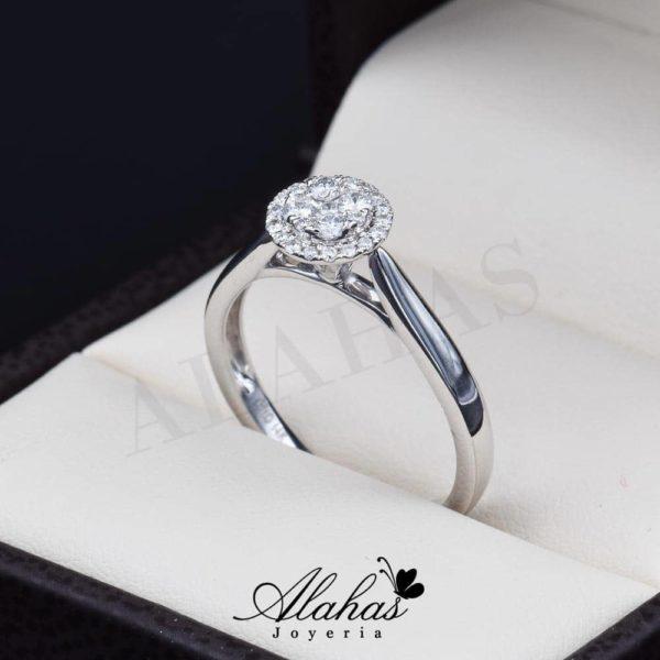 Anillo de compromiso Oro 14k diamantes sdiam-036