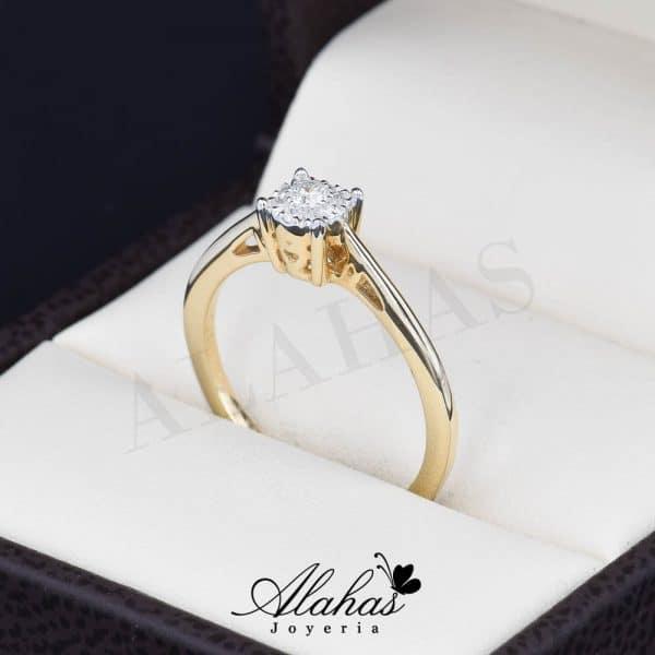 Anillo de compromiso Oro 14k diamantes sdiam-039