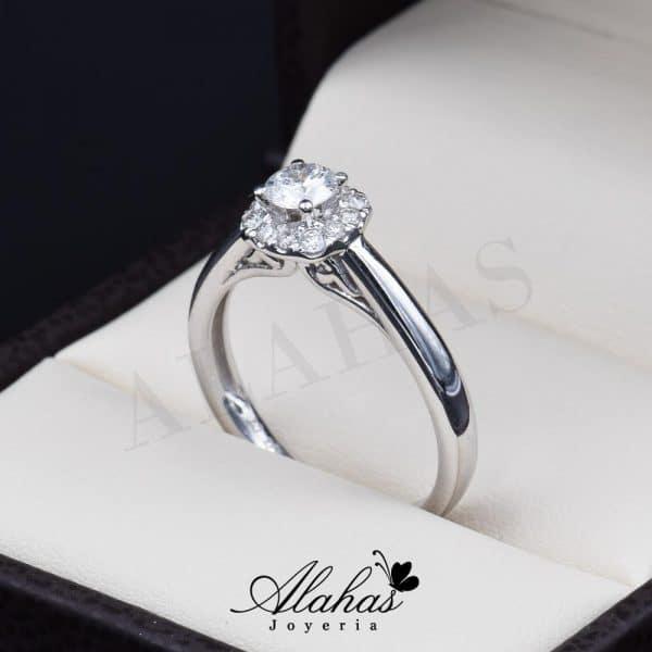 Anillo de compromiso Oro 14k diamantes sdiam-040