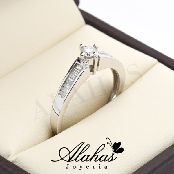 Anillo de compromiso Oro 14k diamantes sdiam-010