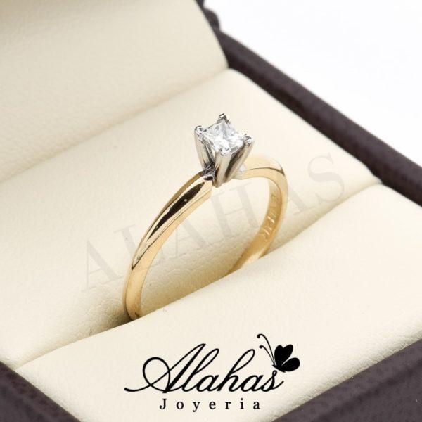 Anillo de compromiso Oro 14k con diamantes sdiam-044