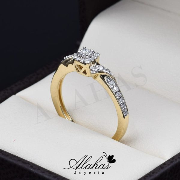 Anillo de compromiso Oro 14k diamantes sdiam-047