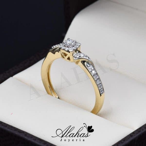 Anillo de compromiso Oro 14k diamantes sdiam-047