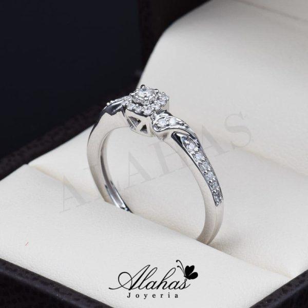 Anillo de compromiso Oro 14k diamantes sdiam-050