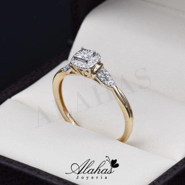 Anillo de compromiso oro 14k diamantes sdiam-051