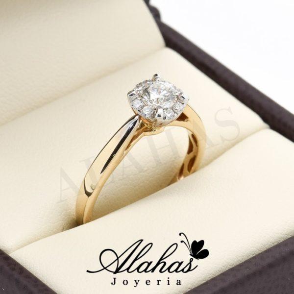 Anillo de compromiso Oro 14k con diamantes sdiam-057