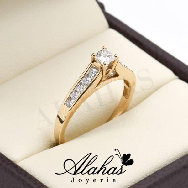 Anillo de compromiso oro 14k con diamantes sdiam-061