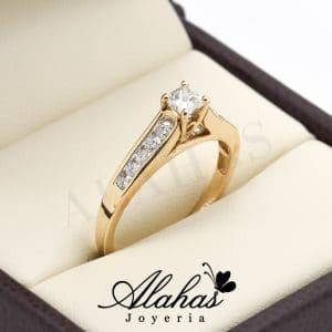 5fbe23aaadcc Anillo de compromiso oro 14k con diamantes sdiam-061
