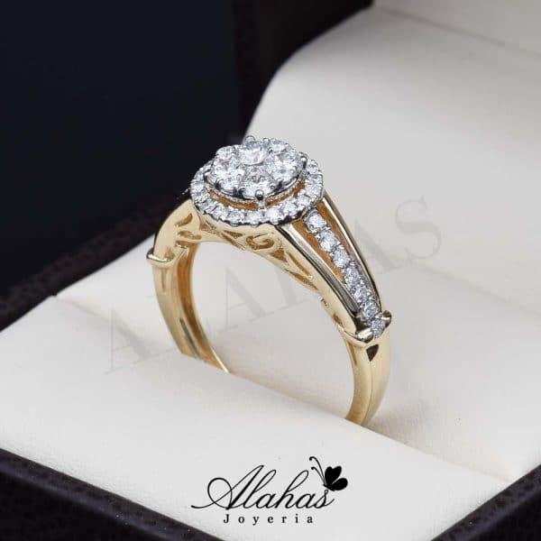 Anillo de compromiso Oro 14k diamantes sdiam-062