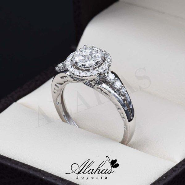 Anillo de compromiso oro 14k diamantes sdiam-063