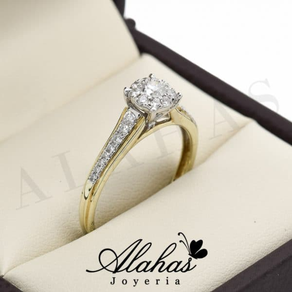 Anillo de compromiso Oro 14k diamantes sdiam-069