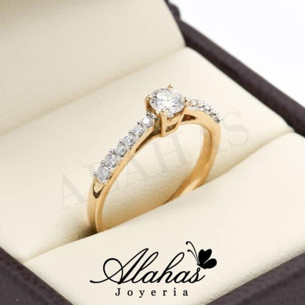 Anillo de compromiso Oro 14k con diamantes SDIAM-070