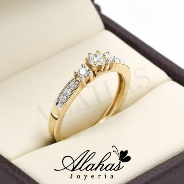 Anillo de compromiso Oro 14k con diamantes sdiam-071