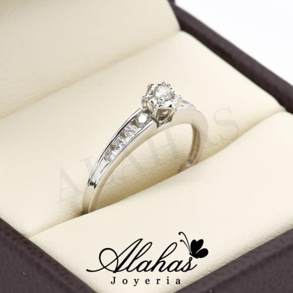 Anillo de compromiso Oro 14k diamantes sdiam-075