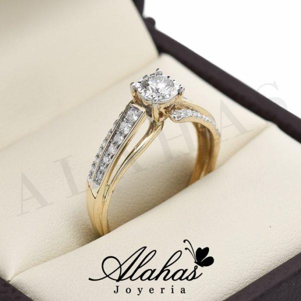 Anillo de compromiso oro 14k diamantes sdiam-083