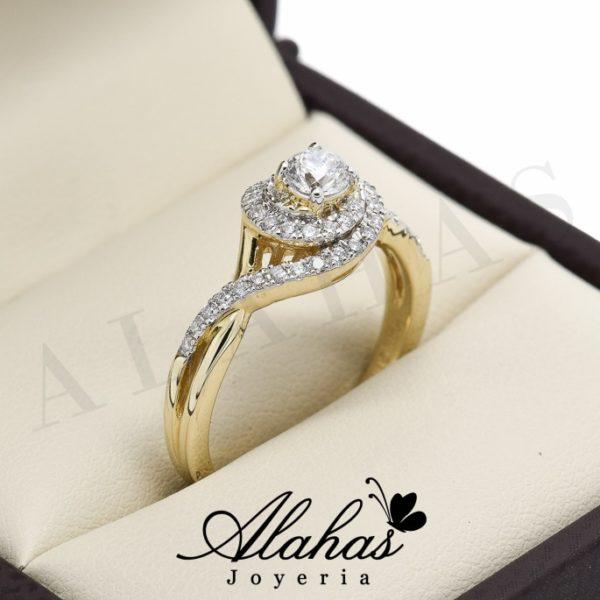 Anillo de compromiso oro 14k diamantes sdiam-084