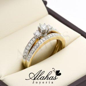 Duo de boda oro 14k diamantes ddiam-011