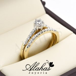 Duo de boda oro 14k diamantes ddiam-013