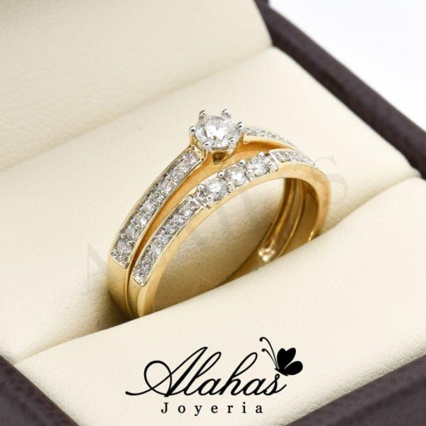 Duo de boda oro 14k diamantes ddiam-015