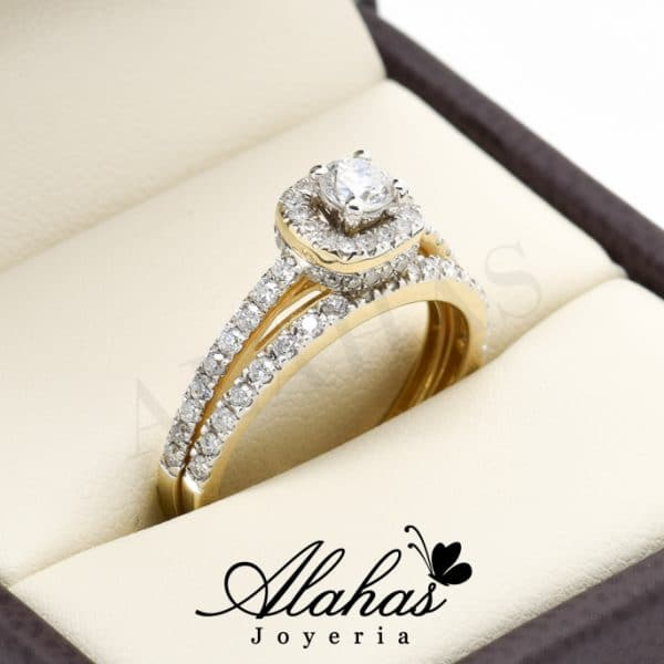 Duo de boda oro 14k diamantes ddiam-028